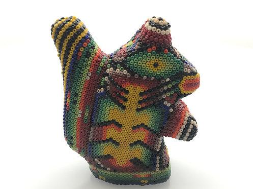 Ardilla de Chaquira - Arte Huichol