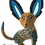 Thumbnail: Wooden Alebrije | xoloitzcuintle Medium Size Yellow with Blue