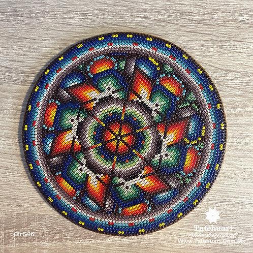 Círculo Forrado con Chaquira Grande - Arte huichol