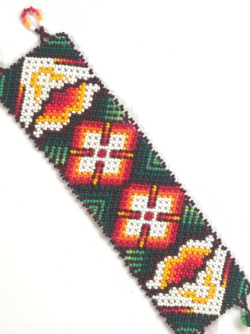 f7f426891968 Pulsera de chaquiras. Código AHPT00019. Arte Popular Mexicano Arte Huichol.