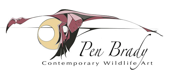 Pink Flamingo, Pen Brady Wildlife art