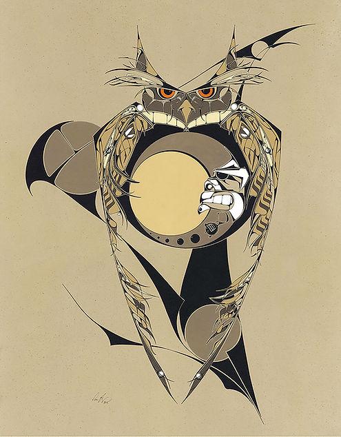 Legend of the Owl Witch, Pen Brady Wildlife art