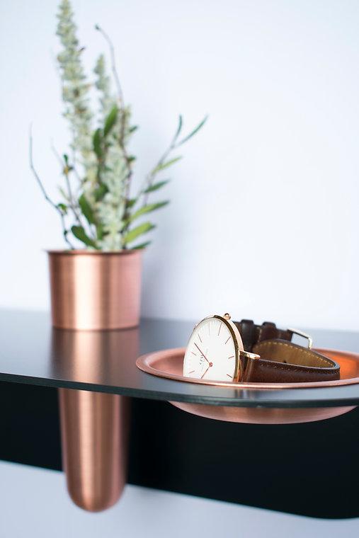 Designer side table. Contemporary Design stool