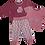 Thumbnail: Enfant Terrible-Baby Shirt mit Blumen in altrosa