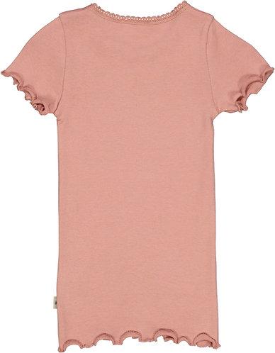 Wheat-Rib T-Shirt Lace SS
