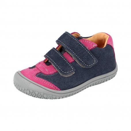 × Sneaker Leguan Klett Art.B18841-620 Bio, ocean-pink /Velours-Nappa Mix