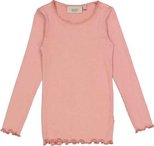 Wheat-Rib T-Shirt Lace LS