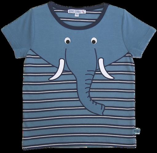 Enfant Terrible-Shirt Mit Streifen und Elefant