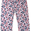 Thumbnail: Enfant Terrible-Jersey Hose Miniblütendruck in rot-navy