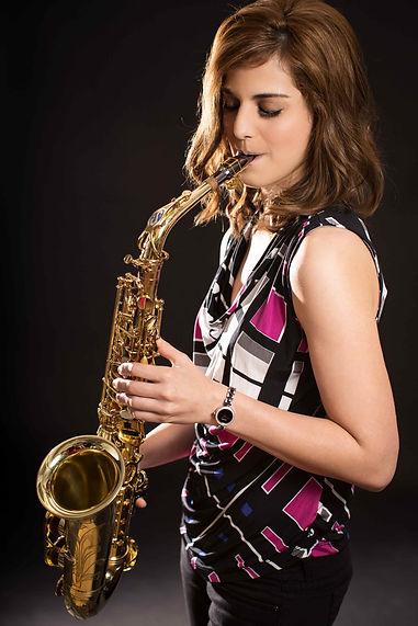 Lena Cuglietta, female saxophonist in Hong Kong