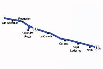 Zona 2 -Ruta 8 a Arias
