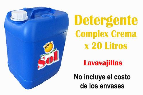 Detergente Complex Crema X 20 Litros($30,96 x Litro)