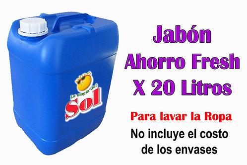 Jabón Ahorro Fresh X 20 Litros