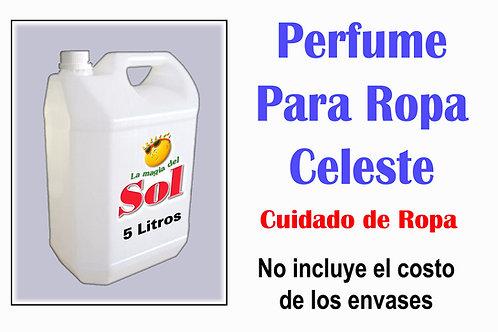 Perfume p/Ropa Celeste X 5 Litros