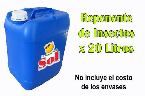 Repelente de Insectos X 20 Litros ($ 49,50 x Litro)