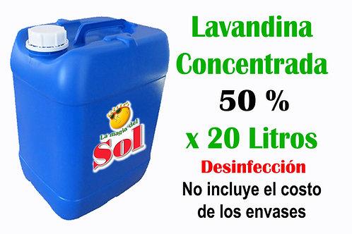 Lavandina Concentrada 50% X 20 Litros
