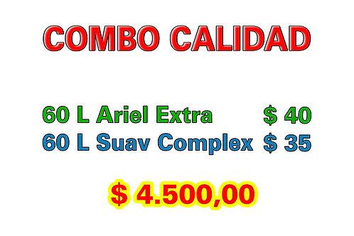 Combo Calidad: 60 L Jabón Extra + 60 L Suavizante Complex