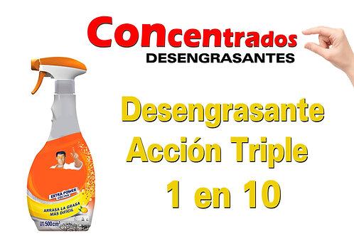 Concentrado Desengrasante Acción Triple 1 en 10 X 1 Litro