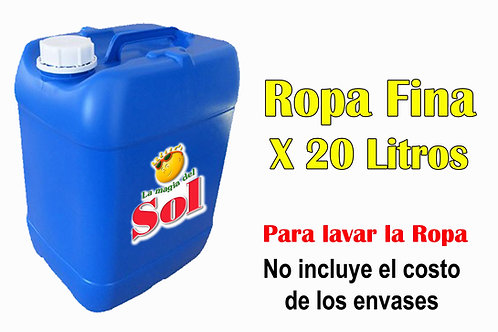Ropa Fina X 20 Litros (65,70 x Litro)