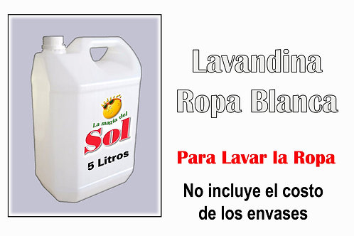 Lavandina Ropa Blanca X 5 Litros ($ 40,50 x Litro)