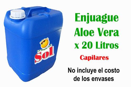 Enjuague Aloe Vera X 20 Litros ($ 57,60 x Litro)