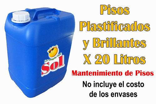 Pisos Plastificados y Brillantes X 20 Litros