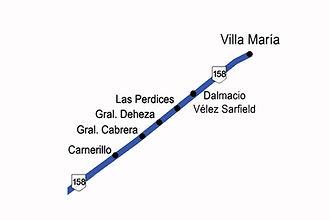 Zona 5 -Ruta 158 a Villa María