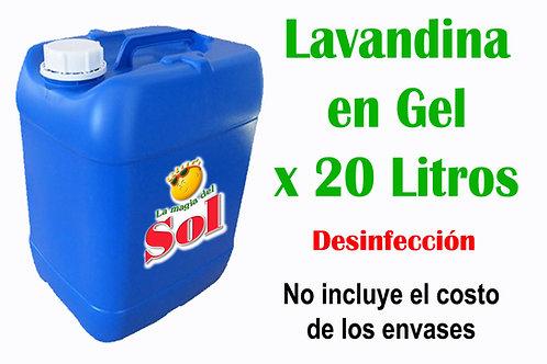 Lavandina en Gel X 20 Litros ($29,00 x Litro)