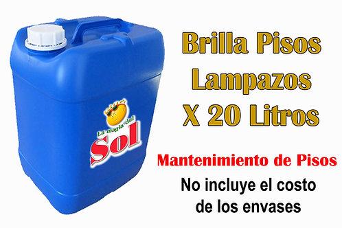 Brilla Pisos, Líquido de Lampazos X 20 Litros ($ 216,00 x Litro)
