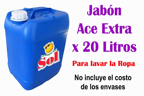 Jabón Ace Extra X 20 Litros