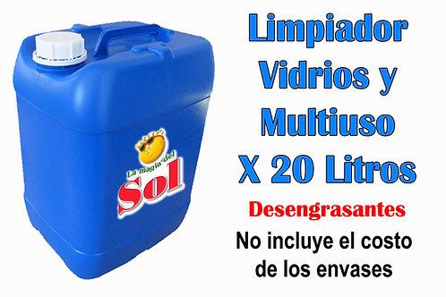 Limpiador Vidrios y Multiuso X 20 Litros ($ 35,91 x Litro)