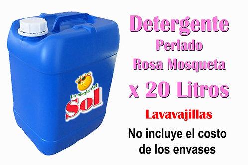 Detergente Perlado Rosa Mosqueta X 20 Litros
