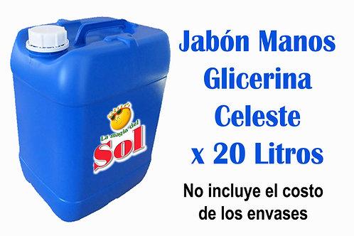 Jabón p/Manos Glicerina Celeste X 20 Litros