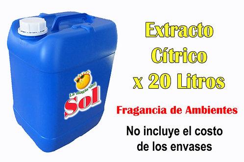 Extracto Cítrico X 20 Litro