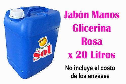 Jabón p/Manos Glicerina Rosa X 20 Litros