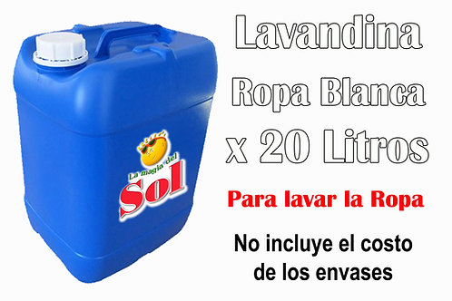 Lavandina Ropa Blanca X 20 Litro