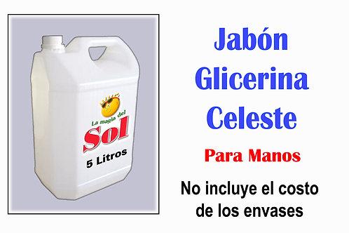 Jabón para Manos con Glicerina Celeste X 5 Litros