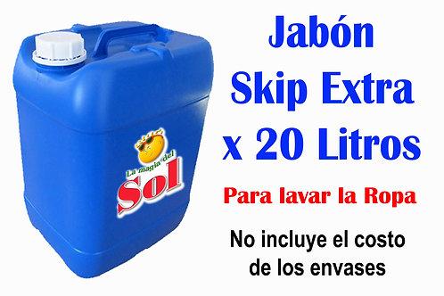 Jabón Skip Extra X 20 Litros ($42,98 x Litro)