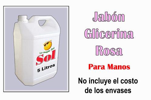 Jabón para Manos con Glicerina Rosa X 5 Litros