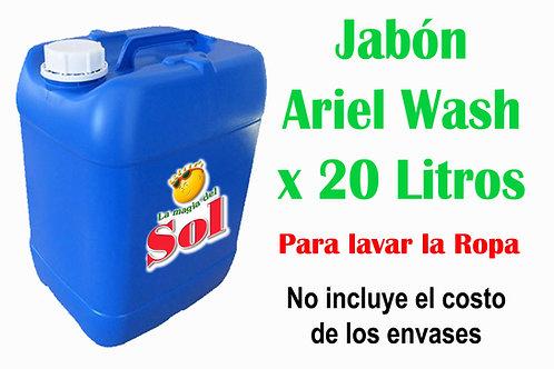 Jabón Ariel Wash X 20 Litros ($33,85 x Litro)