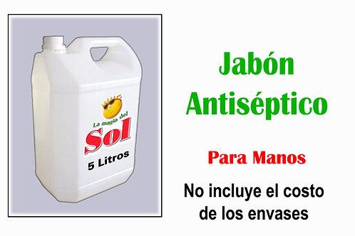 Jabón Antiséptico para Manos X 5 Litros