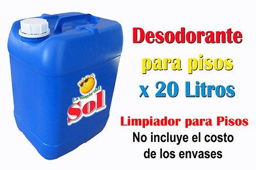 Desodorante para Pisos X 20 Litros