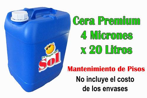Cera Premium 4 Micrones X 20 Litros ($ 162,00 x Litro)