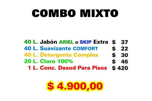 Combo Mixto: Jabón + Suavizante + Detergente + Lavandina + Desodorante de Pisos.