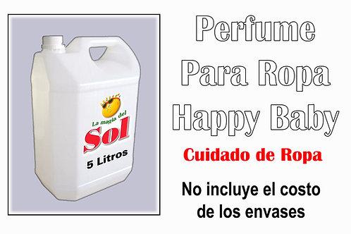 Perfume p/Ropa Happy Baby X 5 Litros ($ 198,00 x Litro)