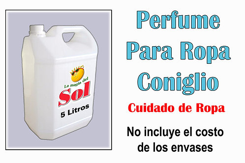 Perfume p/Ropa Coniglio X 5 Litros ($ 198,00 x Litro)