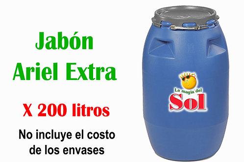 Jabón Ariel Extra X 200 Litros ($ 37.00 X Litro)