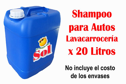 Shampoo Autos X 20 Litros ($ 47,70 x Litro)