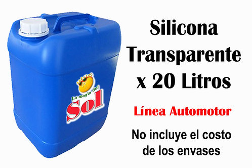 Silicona Transparente X 20 Litros ($ 207,00 x Litro)