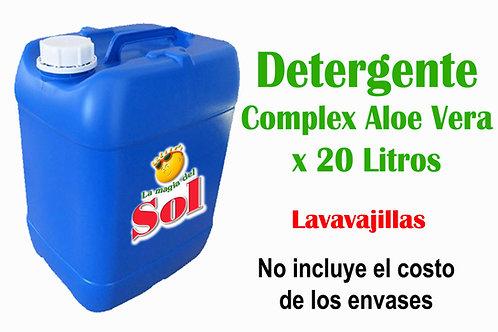 Detergente Complex Aloe Vera X 20 Litros ($30,96 x Litro)